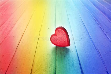 Rainbow Love Heart Background Stock Image   Image of love ...