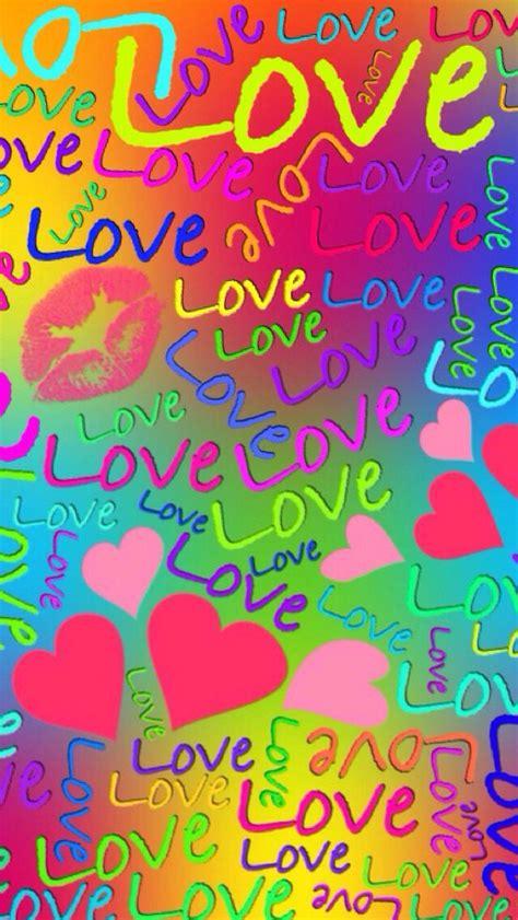 Rainbow  love  wallpaper   #arco iris #amor #fondos # ...