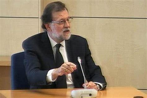 Rajoy comparece ante el juez y dice que desconocía la ...