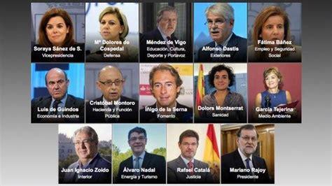 Rajoy desvela su nuevo Ejecutivo