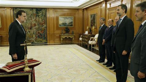 Rajoy jura ante el rey un nuevo mandato de presidente del ...