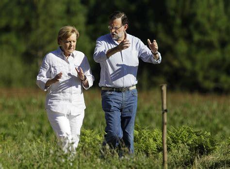 Rajoy y Merkel recorren el Camino de Santiago   larioja.com