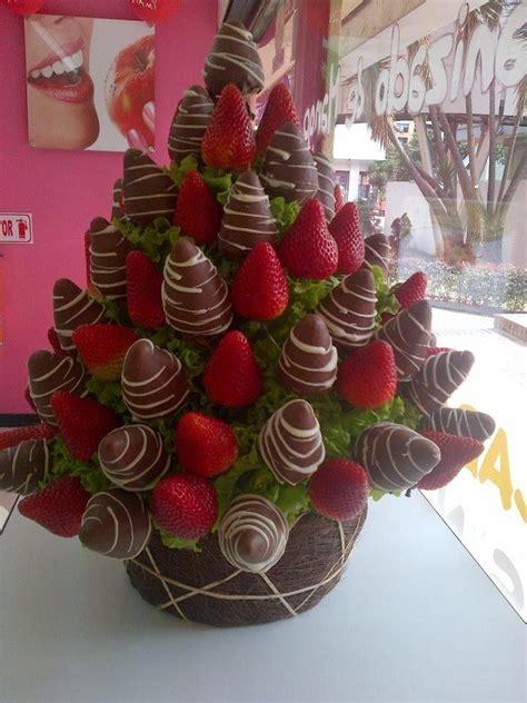 Ramo de fresas con chocolate exquisito   Fresas con ...