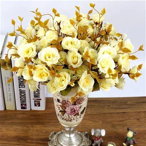 Ramo Rosas Artificiales Decoracion Flores Artificiales ...