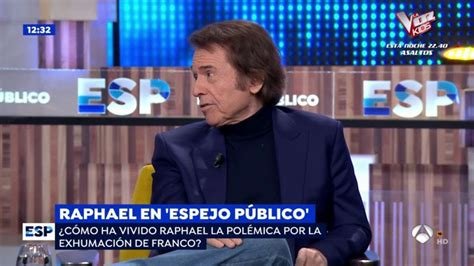 Raphael en el programa  Espejo público  con Susanna Griso ...