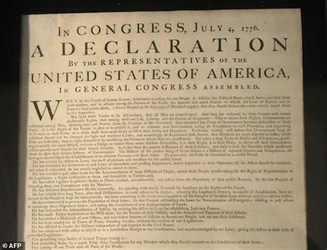 Rare copy of US Declaration of Independence found in a ...