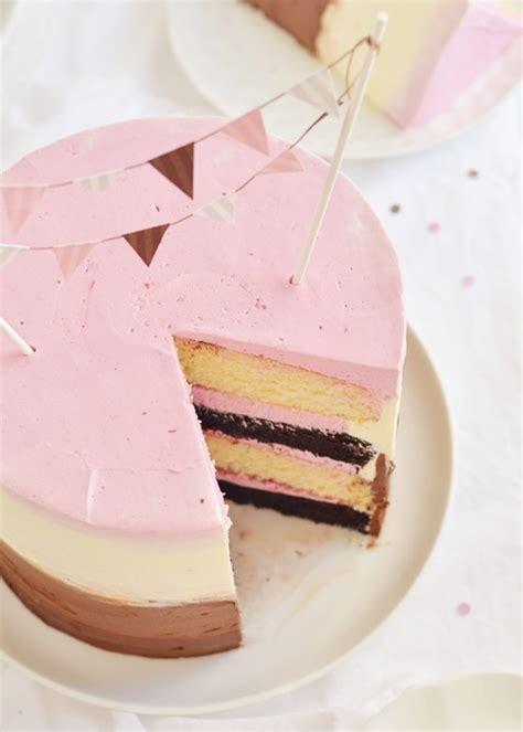 Raspberry Neapolitan Party Cake   Sweetapolita