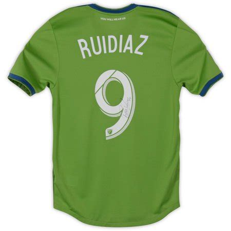 Raul Ruidiaz Seattle Sounders FC Autographed Event Worn #9 ...
