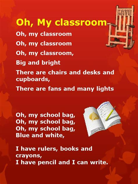 Reading  English Year 1 : Oh, My Classroom | nursery ...