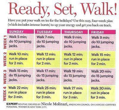 Ready, Set, Walk! 4 week walking program Source: Oxygen ...