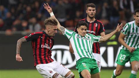 Real Betis   AC Milan: Horario y dónde ver hoy la Europa ...