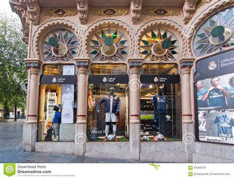 Real Madrid fan store editorial stock image. Image of ...