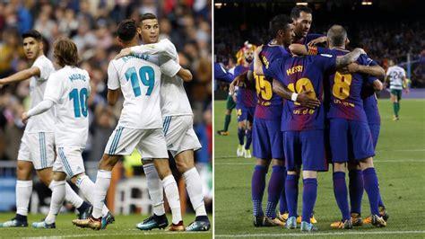 Real Madrid vs Barcelona: Real Madrid 44 43 Barcelona: El ...