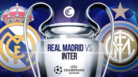 Real Madrid vs Inter de Milán: Cómo y dónde ver el partido ...