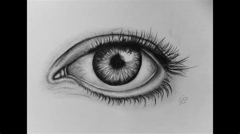 Realistic eye drawing tutorial step by step 2015!   YouTube