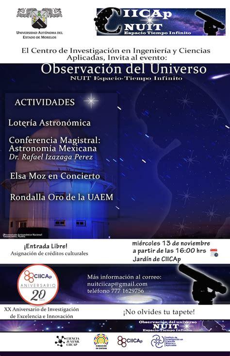 Realizarán observación del universo esta noche en la UAEM ...