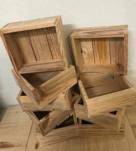 rebajas oferta pack 3 cajas madera natural decoracion ...