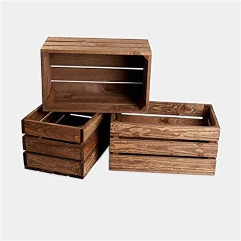 rebajas ofertas lote conjunto Pack 3 cajas madera tono ...