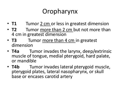 Recent guidelines in management of oral and oropharyngeal ...