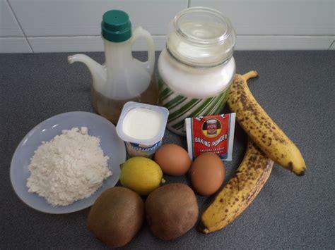 Receta Bizcocho con Plátano y Kiwi | Placer a la carta