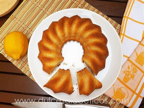 Receta de bizcocho de limón sin azúcar esponjoso   Dulces ...