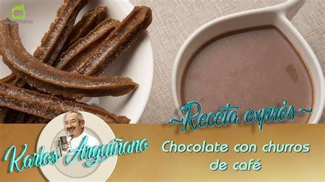 Receta de Chocolate con churros de café por Eva Arguiñano ...