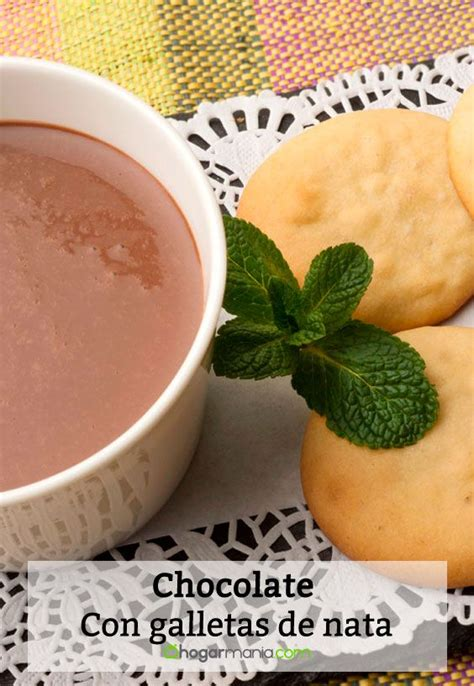 Receta de Chocolate con galletas de nata   Eva Arguiñano