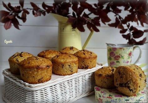 Receta de Muffins de avena, plátano y chocolate  Thermomix ...