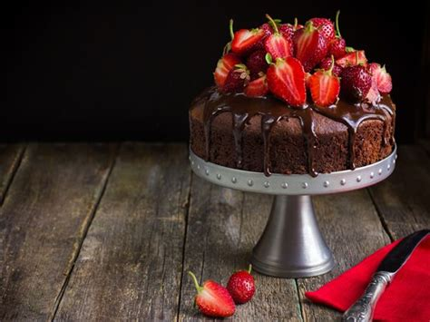 Receta de pastel de fresas con chocolate   Chocolate Negro