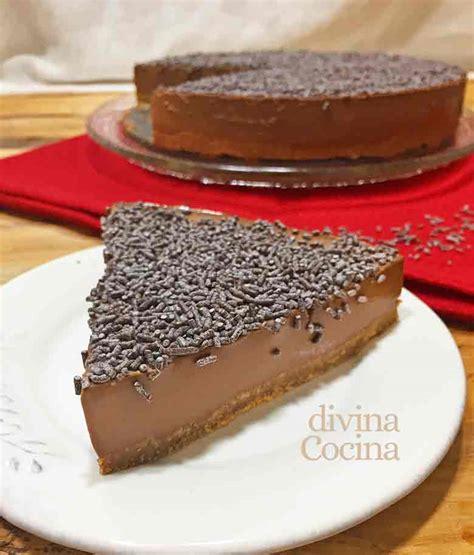 Receta de Tarta de chocolate fácil sin horno   Divina Cocina