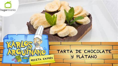 Receta de Tarta de chocolate y plátano por Eva Arguiñano ...