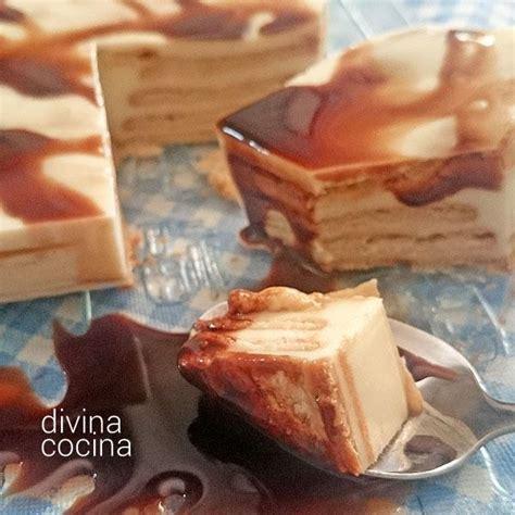 Receta de tarta de galletas y chocolate blanco   Divina Cocina