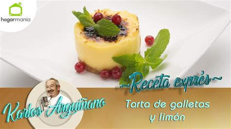 Receta de Tarta de galletas y limón por Eva Arguiñano ...