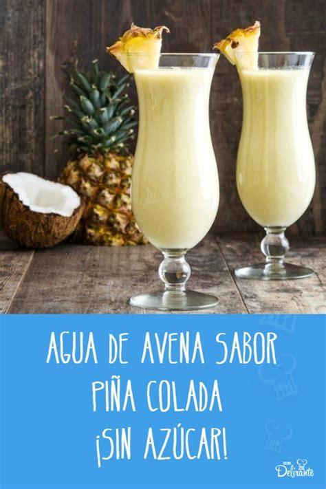 receta facil de agua de avena con piña y coco