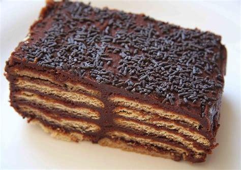 Receta fácil de tarta de galletas con nocilla