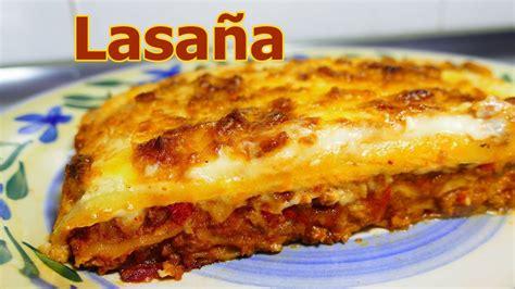 receta LASAÑA DE CARNE MOLIDA Y QUESO | recetas de cocina ...