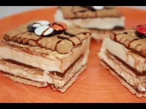 Receta sencilla de tarta de galleta y crema de chocolate ...