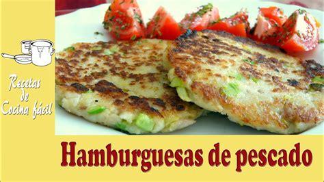 Recetas de cocina fácil   Hamburguesa de pescado  merluza ...