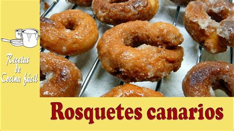 Recetas de cocina fácil   Rosquetes canarios   YouTube