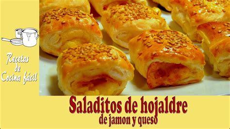 Recetas de cocina fácil   Saladitos de hojaldre de jamón y ...