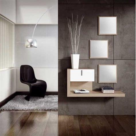 Recibidor de diseño moderno con tres espejos | decor ...