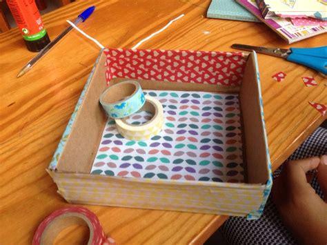 Reciclaje de pequeñas cajas de carton decoradas con washi ...