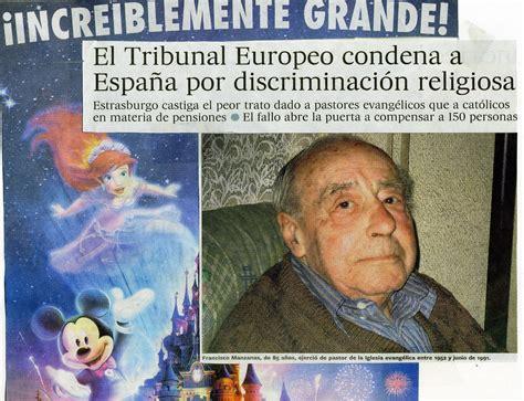 RECORTES DE PRENSA001: DISCRIMINACIÓN RELIGIOSA, ESPAÑA ...