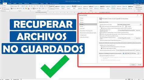 RECUPERAR ARCHIVO DE WORD NO GUARDADO   Archivadores, Escuela