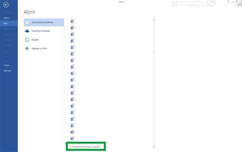 Recuperar archivos de Word no guardados o perdidos   Soteon