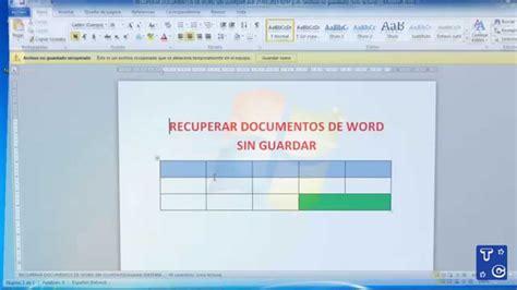 Recuperar documentos de word sin guardar   YouTube