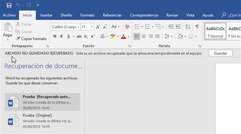 Recuperar un archivo de Word no guardado   Saber Programas