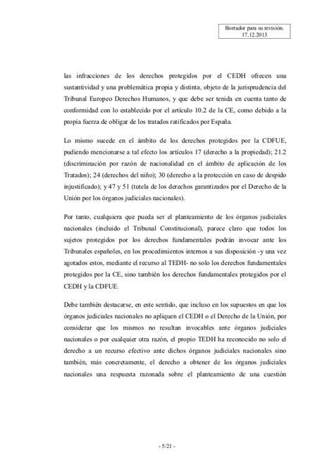 Recurso efectivo en defensa de derechos fundamentales, 17 ...