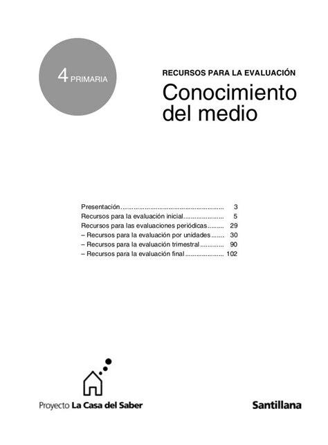 RECURSOS EVALUACION MEDI 4º   Evaluacion, Evaluación ...