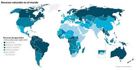 Recursos naturales en el mundo: qué países tienen más y ...